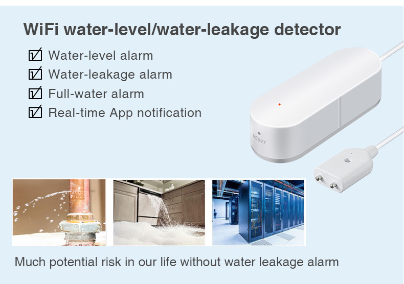 Enerna IoTech Co., Limited WiFi Smart House Security Water Leakage and Water Level Alarm