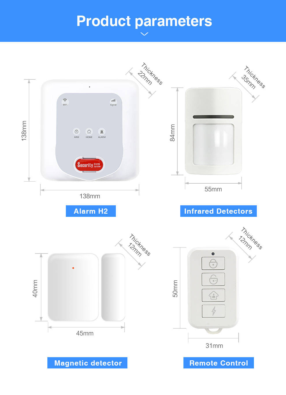 Enerna IoTech Mobile App GSM WiFi Zigbee Smart Home Wireless Anti-theft Alarm