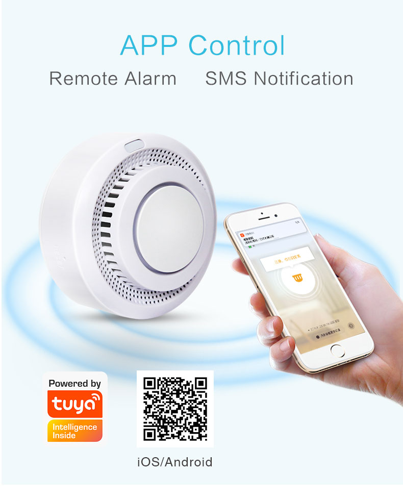 Enerna IoTech Smart Automation Mobile App Remote Fire Smoke Alarm Notification System