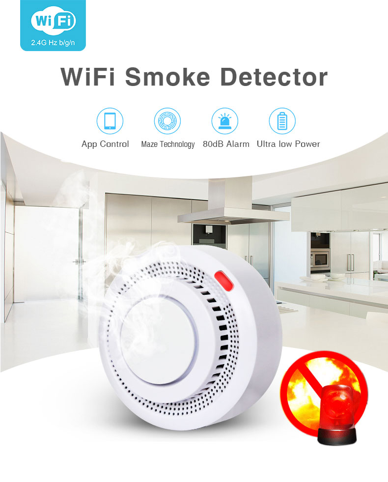 Enerna IoTech Smart Building Automation Remote Fire Alarm Monitoring Smoke Detector