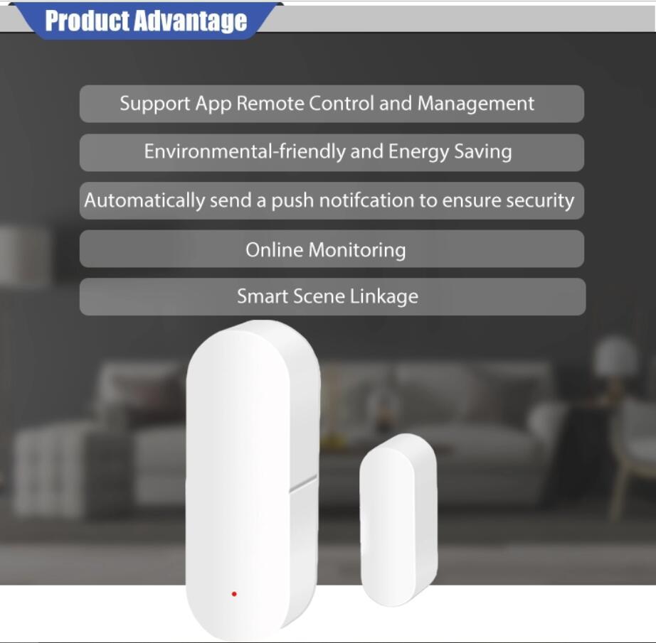 Enerna IoTech Smart Home Security Door Window Detector Sensor