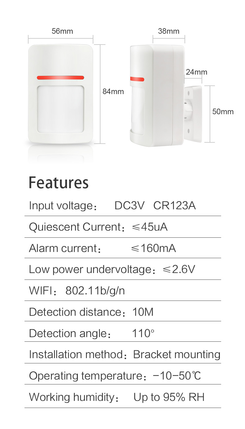 Enerna IoTech Smart Wireless Alarm Kit Automatic Switch Curtain, Camera, Light and Air Conditioner