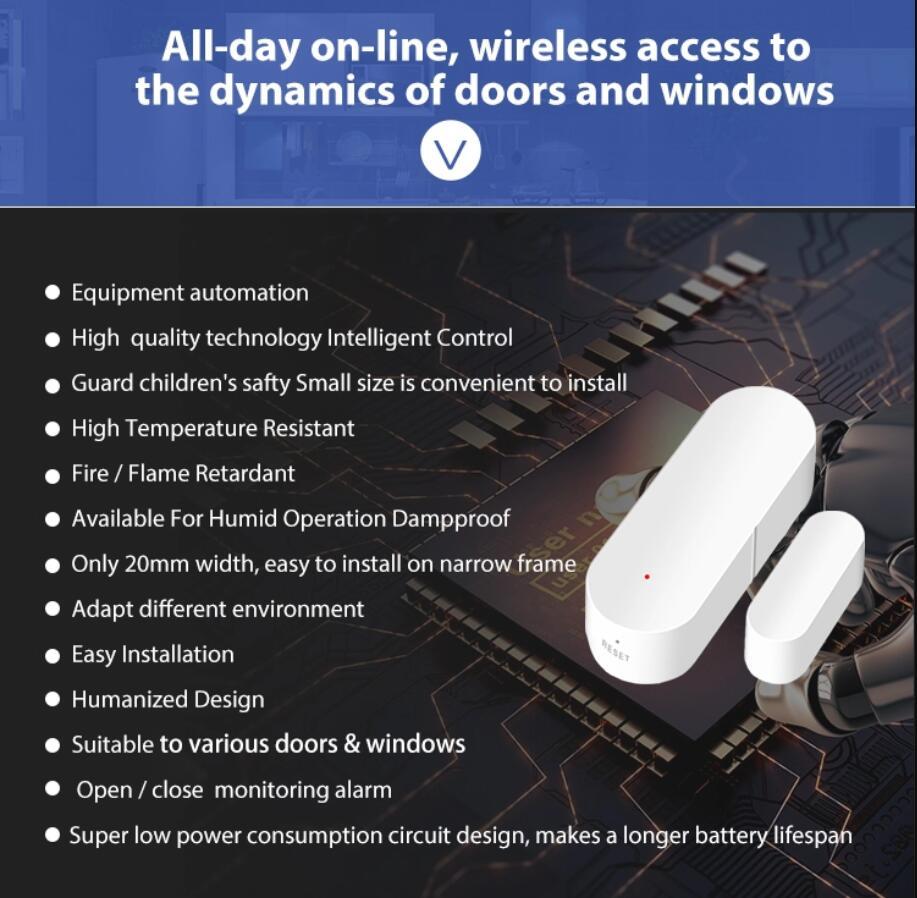 Enerna IoTech Tuya wireless wifi smart magnetic security door and window sensor