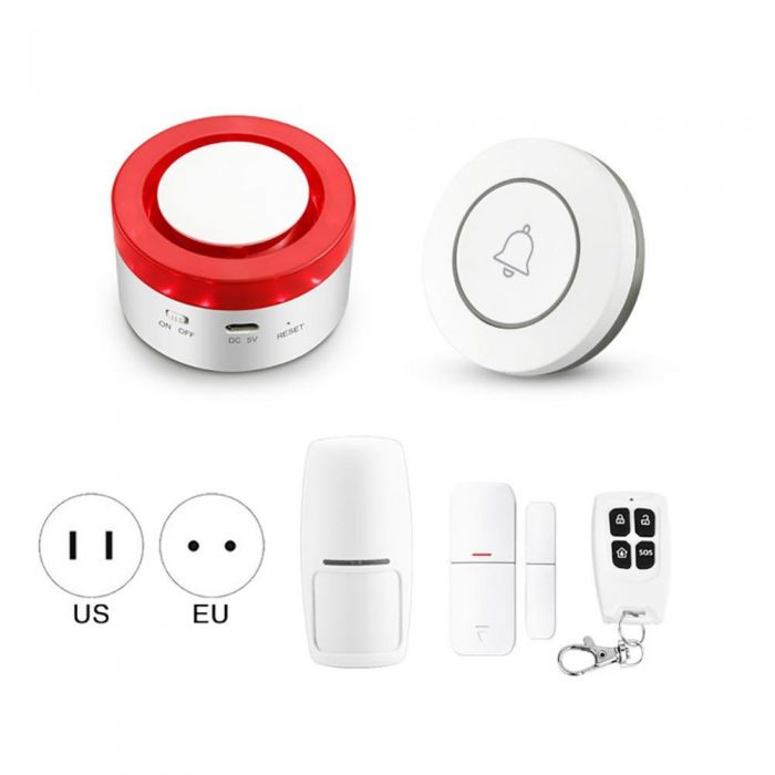 Enerna IoTech WiFi Smart Home Security Siren Alarm IoT Gateway H1