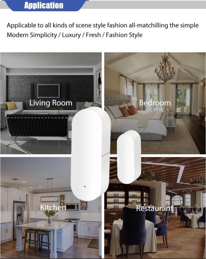 Enerna IoTech WiFi Mobile App Control Home Safety wireless Smart Door Window Sensor