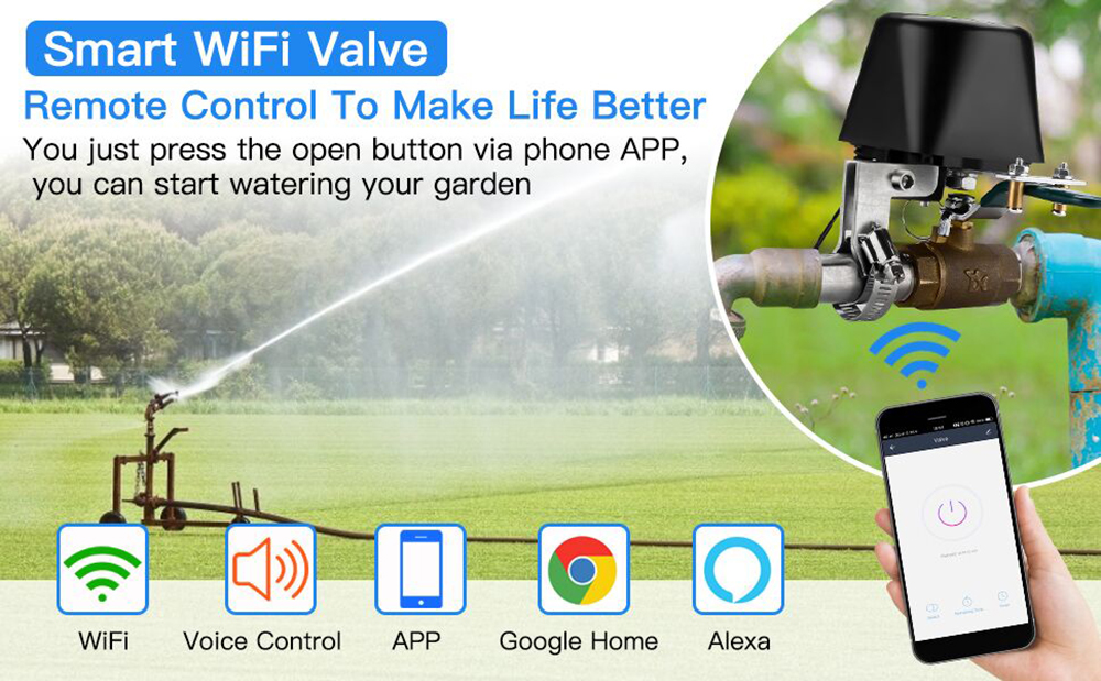 Enerna IoTech WiFi Smart Automation Water and Gas Valve Controller for Irrigation, Chicken House, Farm, Gas Pipe