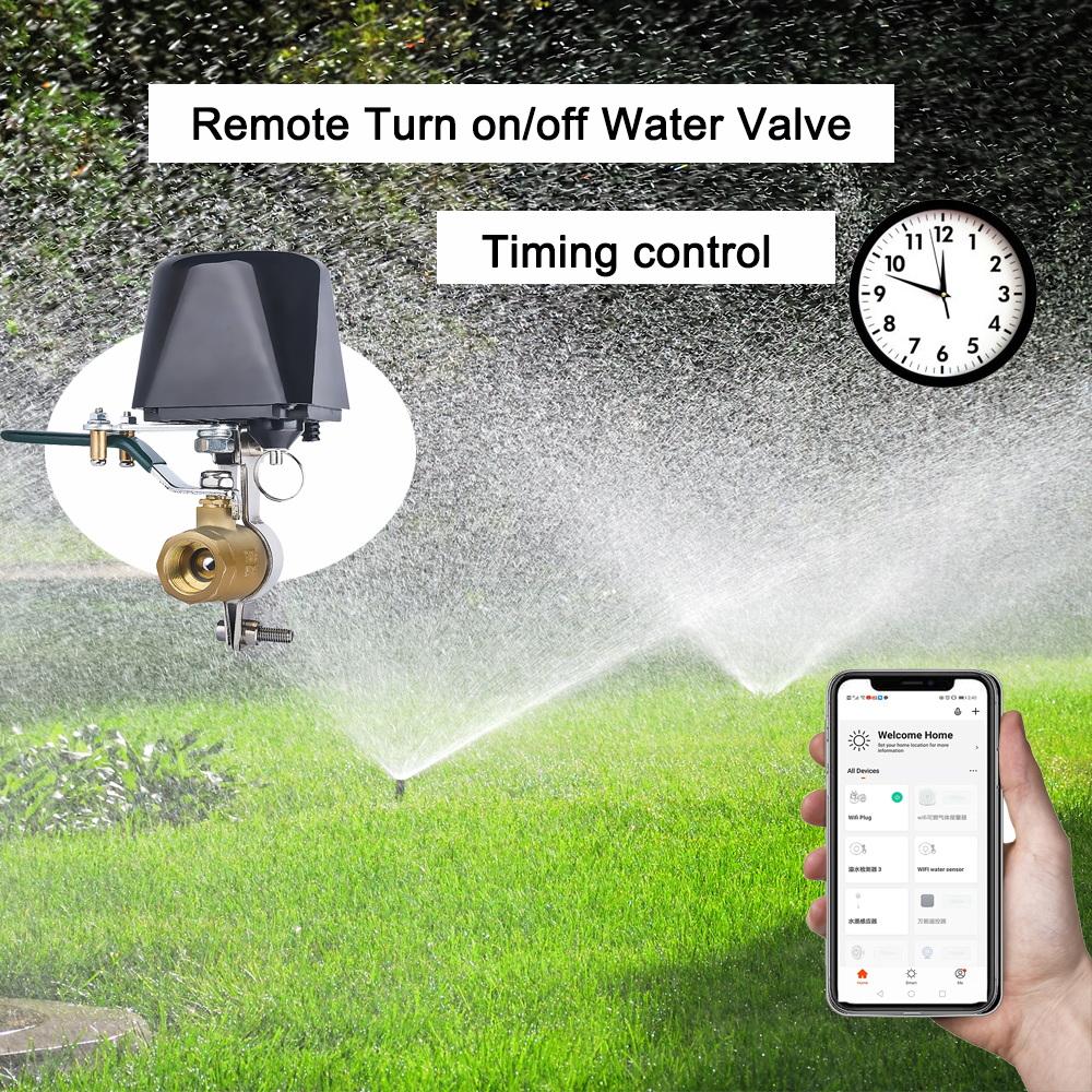 Enerna IoTech WiFi Smart Automation Water and Gas Valve Controller for garden Irrigation, Chicken House, Farm, Gas Pipe