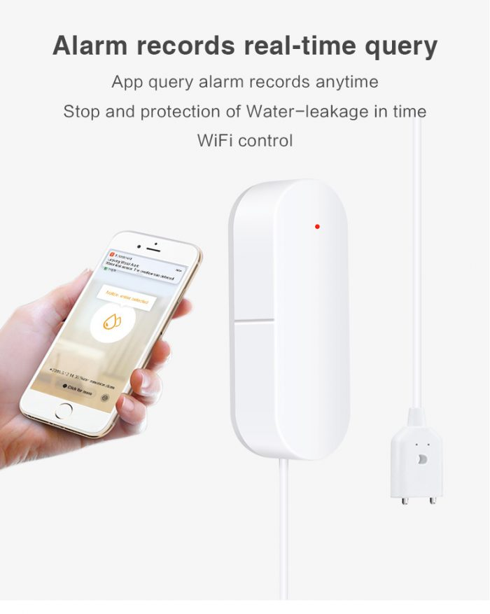 Enerna IoTech WiFi Smart House Security Water Leakage and Water Level Real-time Monitoring Alarm