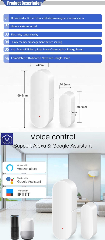 Enerna IoTech Wireless WIFI Tuya Smart Door Window Sensor Detector Alarm