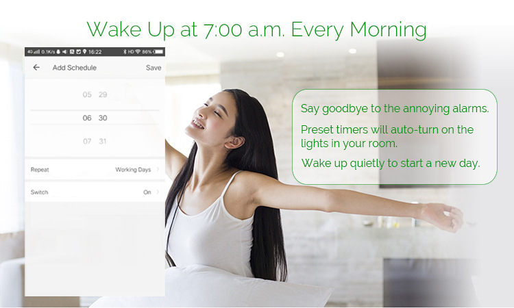 Enerna IoTech Remote Control Wireless WiFi Smart Touch Screen Digital Wall Light Switch