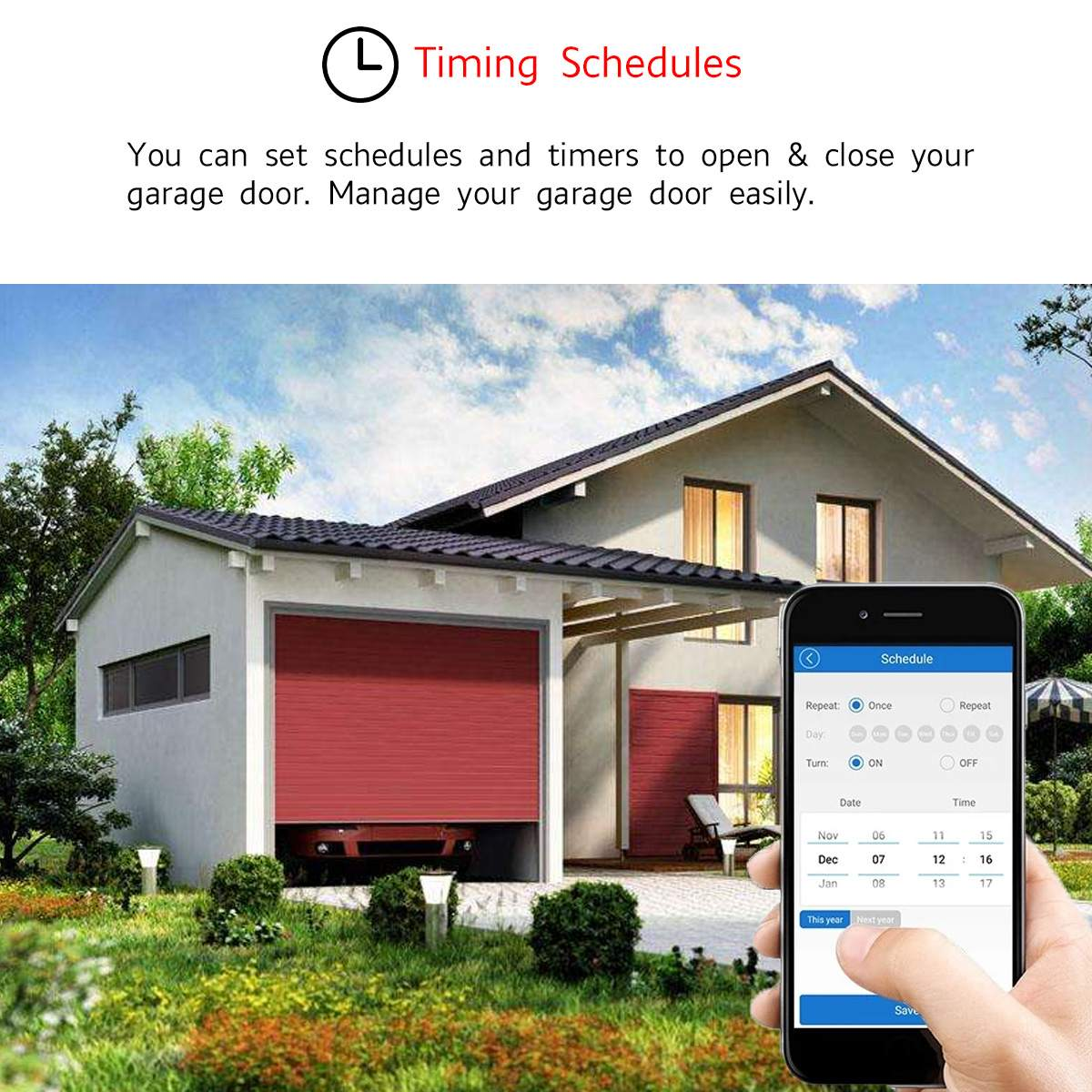 Enerna IoTech Smart Car Automation Garage Door Gate Opener Remote Switch Controller
