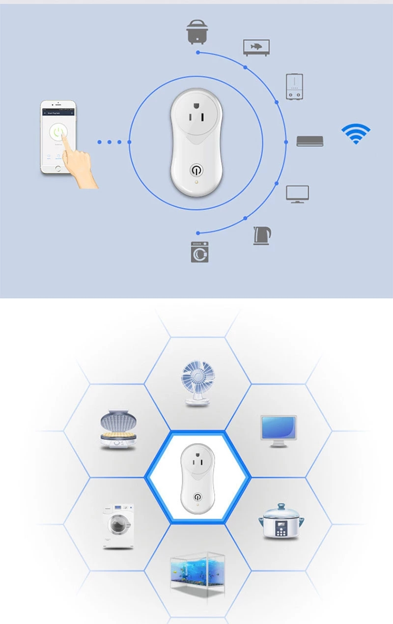 Enerna IoTech Smart WiFi Home Automation Wireless Remote Control Timing Switch Socket Plug