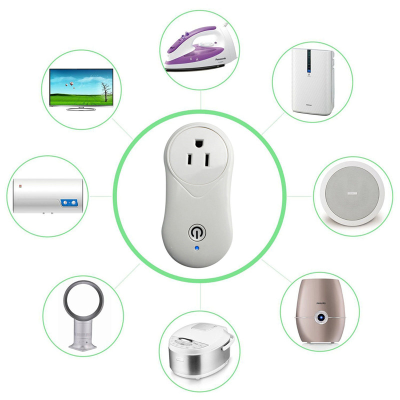 Enerna IoTech WiFi Smart Socket Plug Wireless Remote Socket Adapter APP Remote Control for Amazon Alexa Google Home