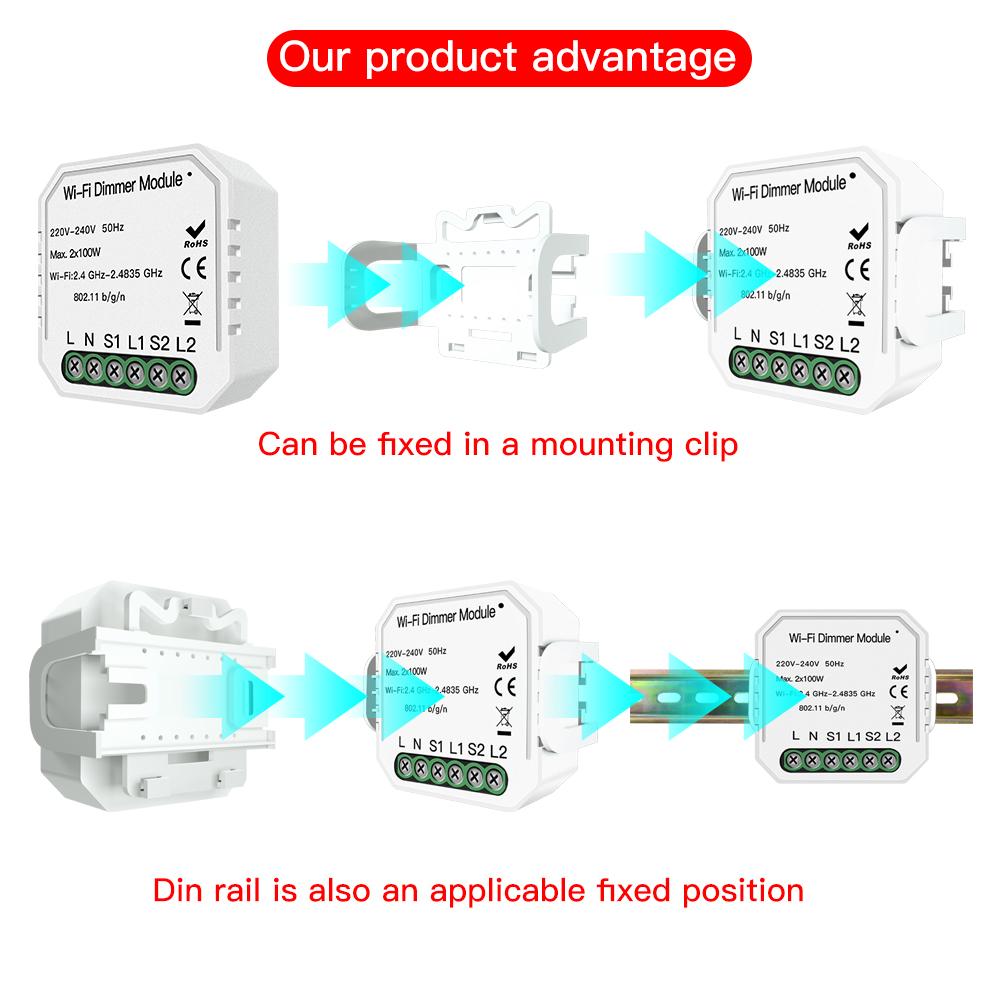Enerna IoTech DIY WiFi Universal Breaker Timer Smart Life APP Smart Led Dimmer Switch Module