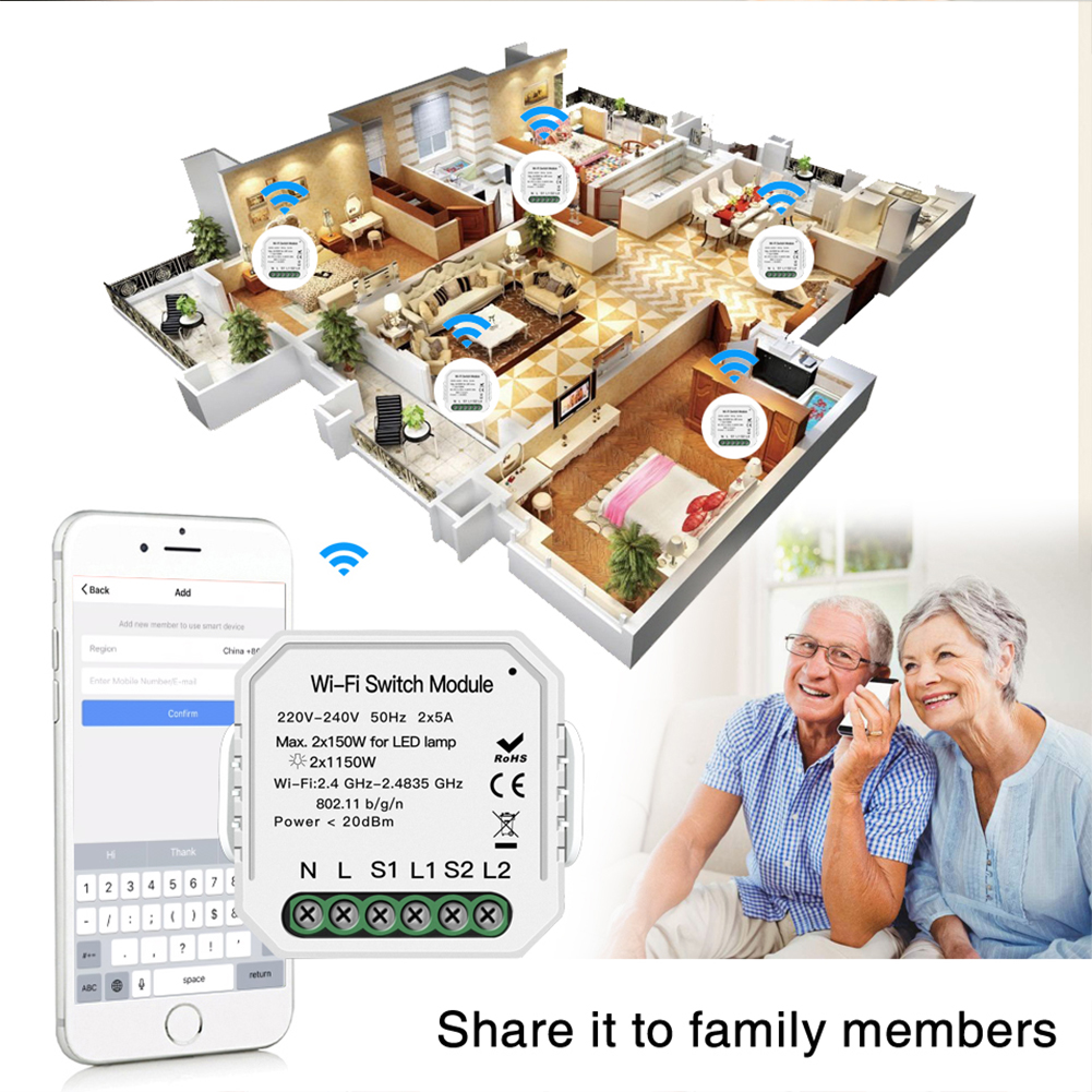 Enerna IoTech Smart Switch DIY Remote Control Wireless Wifi Light Switch