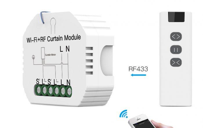 Enerna IoTech WiFi Mini DIY RF433 Smart Roller Blinds Shutters Curtain Switch Module for Electric Motor