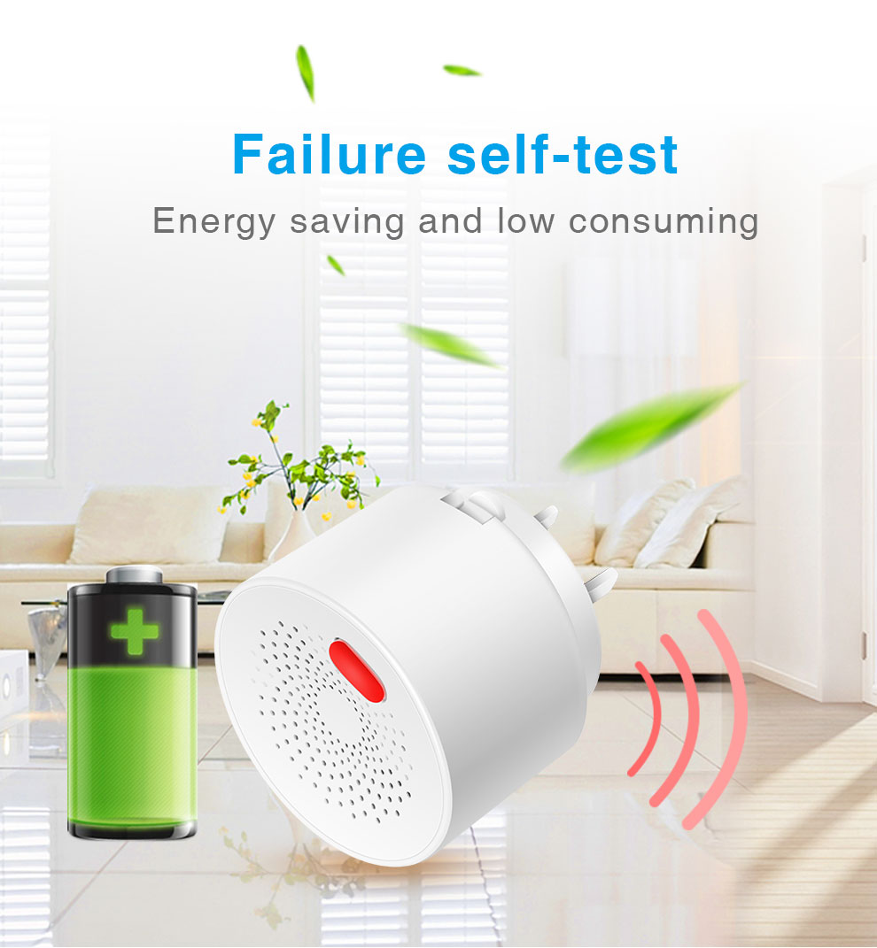 Enerna IoTech WIFI Wireless Remote Control Natural Leak Combustible Gas Detector