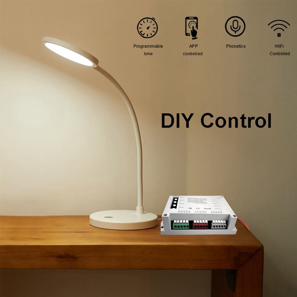 Enerna IoTech WiFi 4 Gang DIY Smart Switch APP Remote Wireless Smart Home Controller