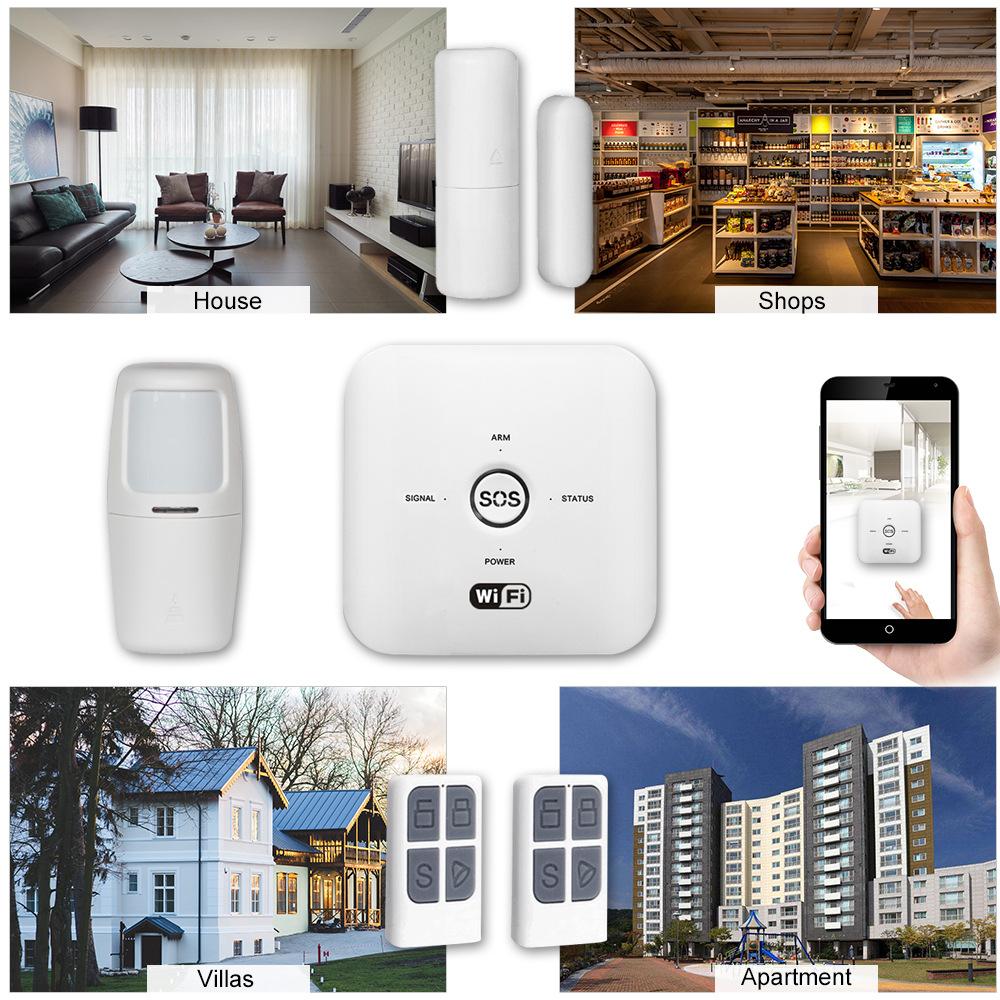 Enerna IoTech WiFi GSM Alexa Voice Smart Control Security Home Alarm System