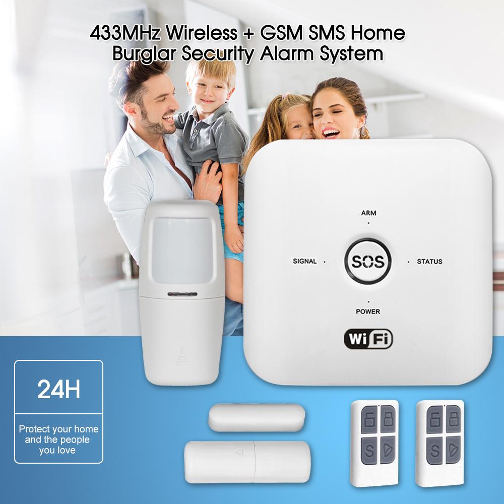Enerna IoTech WiFi GSM SMS Wireless Home Burglar Security Alarm System
