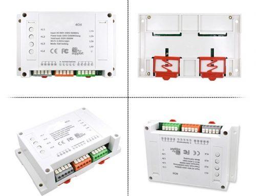WiFi 4 channels wireless smart LED light fan controller
