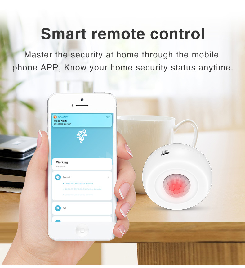 Enerna IoTech 360 Degree WiFi Smart Remote Control PIR Alarm System
