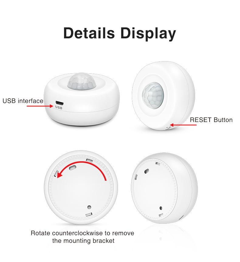 Enerna IoTech 360 degree WiFi Ceiling PIR infrared motion Sensor