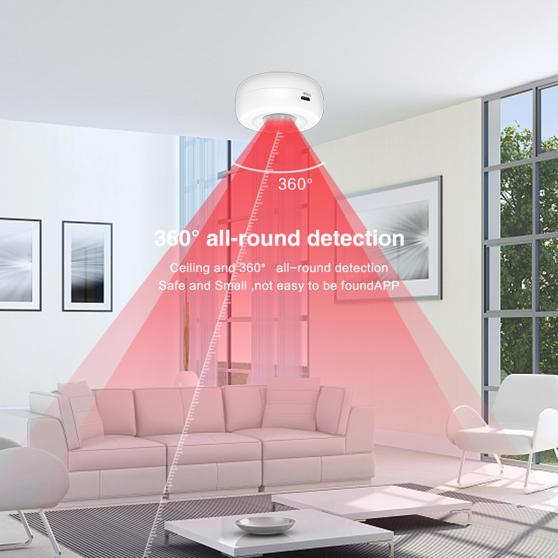 Enerna IoTech Ceiling Mount WiFi PIR Alarm Sensor