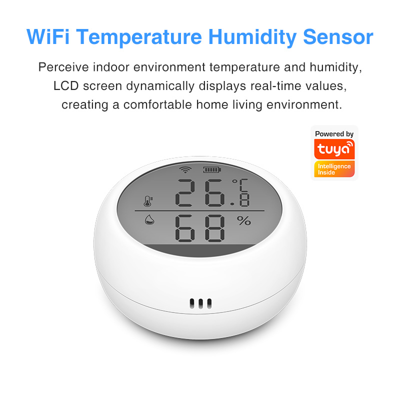 Enerna IoTech WIFI Smart Home Intelligent Temperature and Humidity Monitoring Sensor