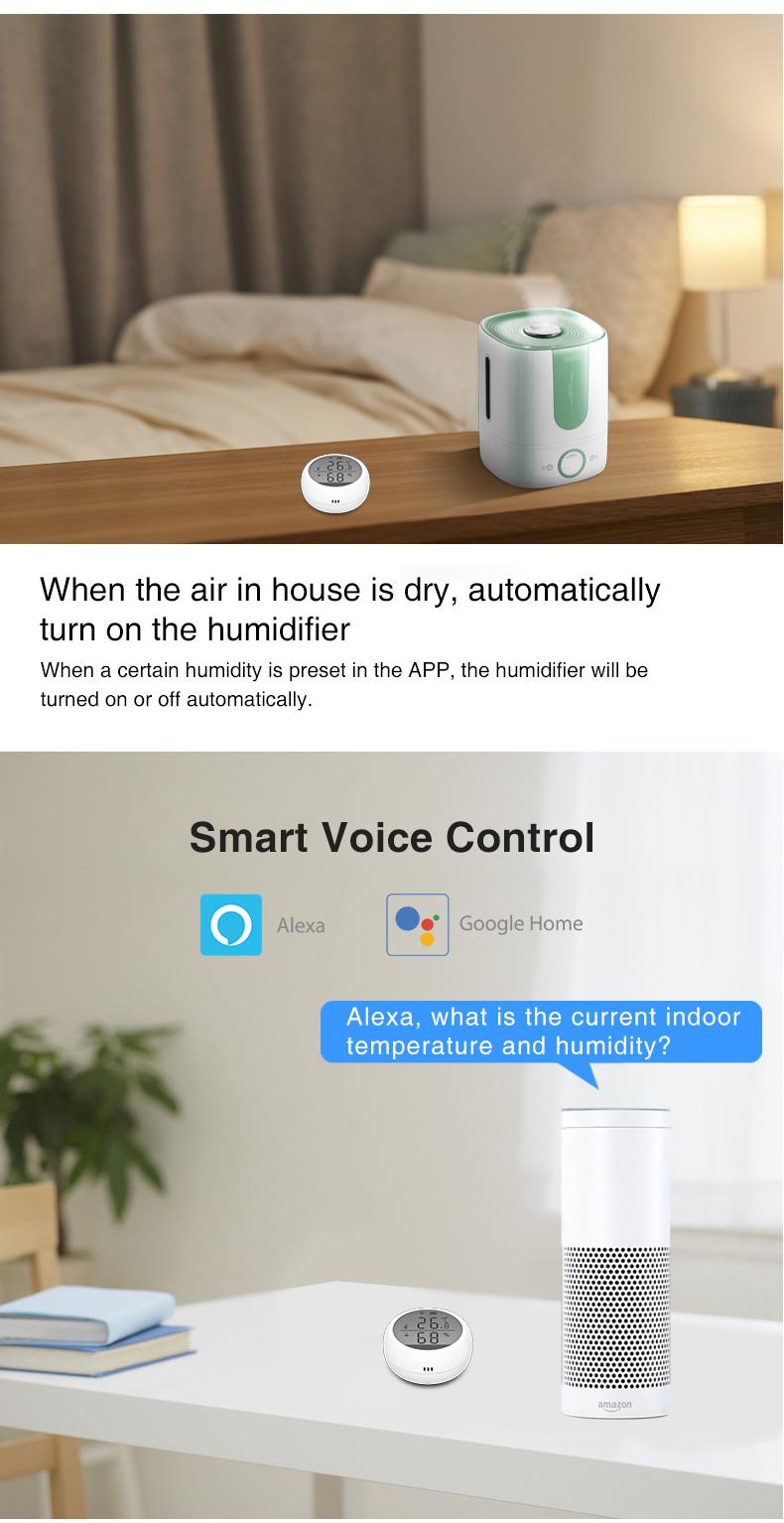Enerna IoTech WiFi Wireless Temperature Humidity Sensor Meter Controller