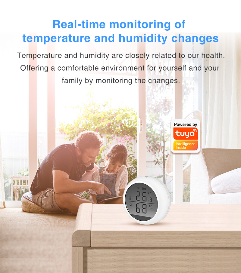 Enerna IoTech wireless smart home wifi temperature and humidity sensor