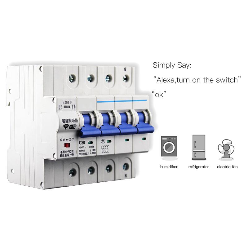 Enerna IoTech 4P WiFi Smart Building Automation Wireless Circuit Breaker
