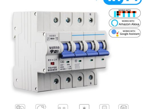 4P WiFi Smart Overload Short Circuit Breaker Switch