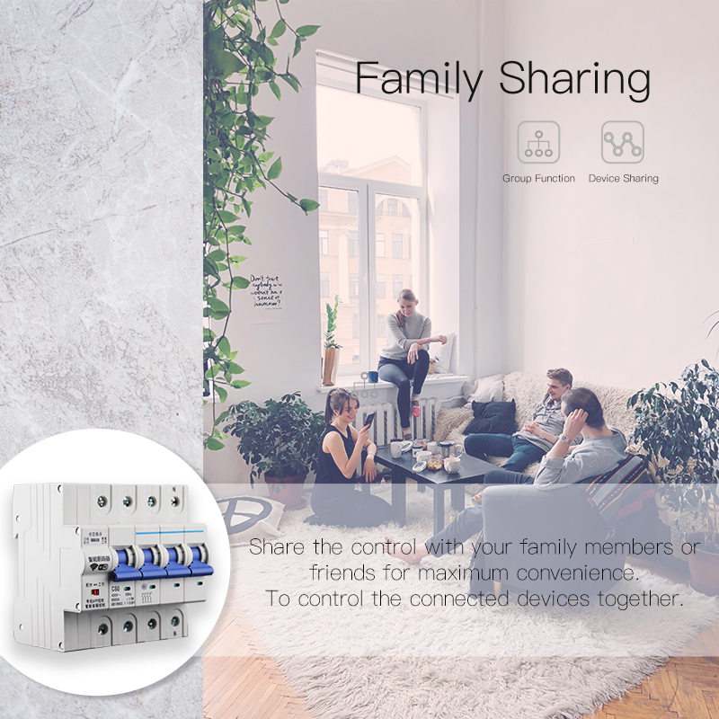 Enerna IoTech WiFi smart wireless iot overload protection circuit breaker