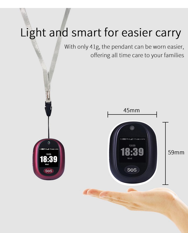 Enerna IoTech Long Standby Time Kids GPS Tracker 4G GPS Pendant Wireless Control GPS Tracker