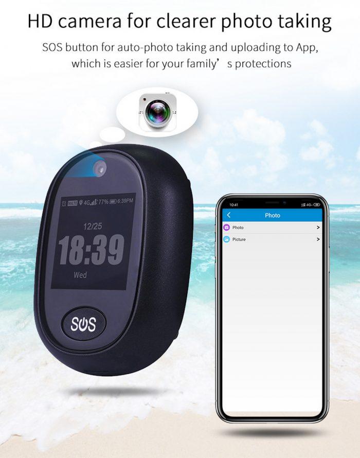 Enerna IoTech Personal Emergency Response Senior SOS Medical Alert Device 4G GPS Tracker Watch Smart Alarm gps tracker