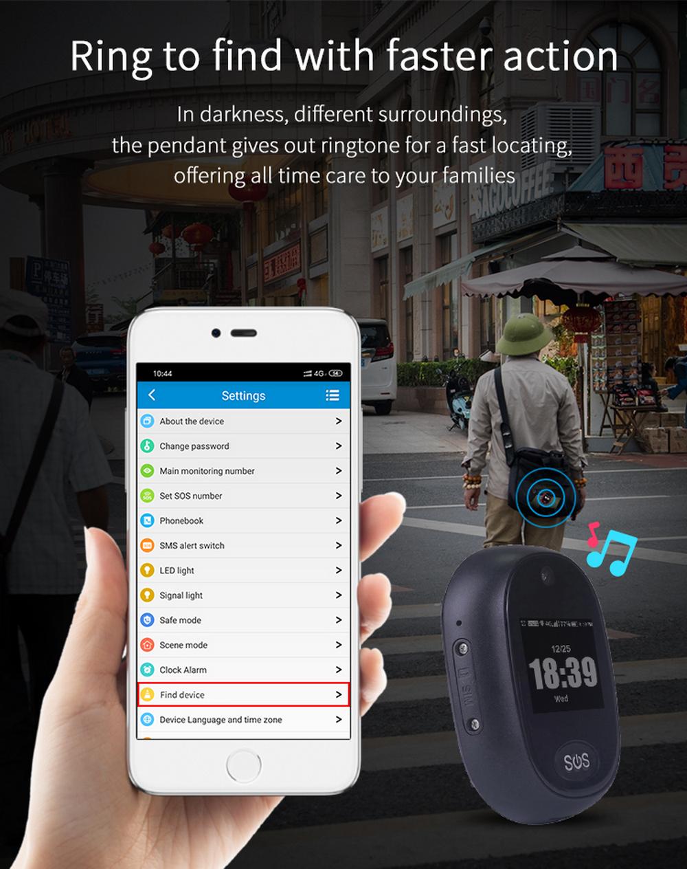 Enerna IoTech Real Time Tracking Anti-lost Geo Fence Alert For Elderly Kids 4G Waterproof Mini GPS Tracker
